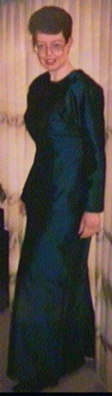 Bethli in 1992, en route to the Simpson Grierson Christmas Ball